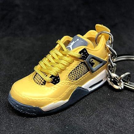 7cc64690571 Air jordan IV 4 Retro Lightning Yellow OG Sneakers Shoes 3D Keychain