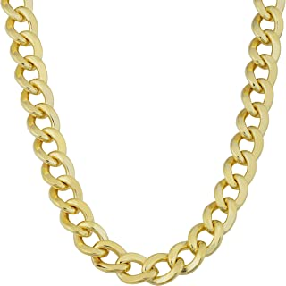 Mens 14k Yellow Gold Filled 9 mm High Polish Miami Cuban Curb Link Chain Necklace