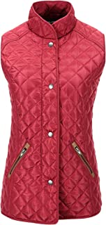 Bellivera Women's Quilted Lightweight Padding Hooded Jacket, Puffer Coat Cotton Filling Water Resistant for Fall and Winter