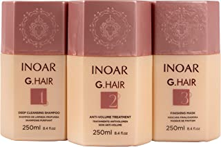 INOAR PROFESSIONAL - G-Hair Keratin Smoothing Shampoo & Conditioner - The Perfect Combination to Hydrate, Smooth and Straighten Your Hair Without Damaging Its Texture (8.45 Ounces / 250 Milliliters)