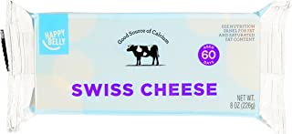 Amazon Brand - Happy Belly Swiss Cheese Block, 8 Ounce