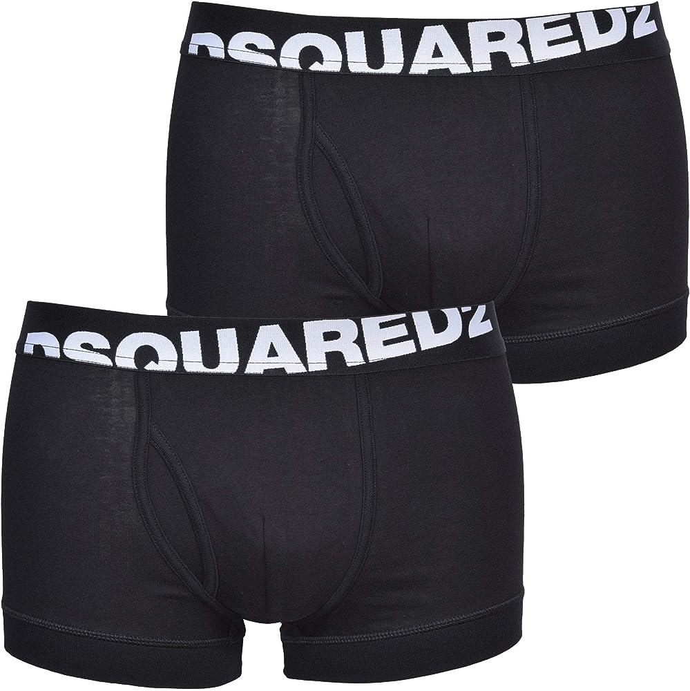 Dsquared2,boxer per uomo,2 paia,95% cotone, 5% elastan DCXC90030.001