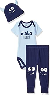 Gerber Baby Boys' 3-Piece Bodysuit, Pant and Cap Set