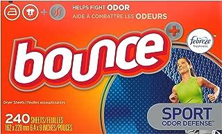 Bounce Plus Febreze Sport Odor Defense Fabric Softener Dryer Sheets, 240 Count