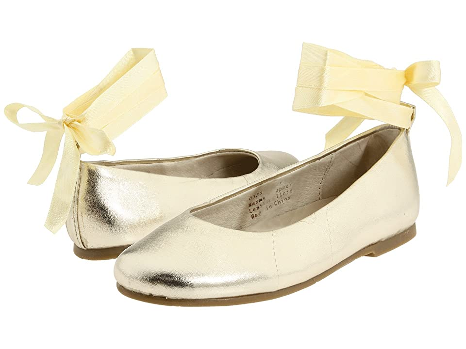 Pazitos Swan BF PU (Little Kid/Big Kid) (Gold Metallic) Girls Shoes