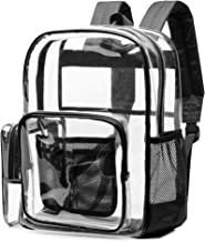 Clear Backpack, NBSail Heavy Duty Clear Backpack for School Reinforced Students Book Bag Transparent Backpack for Work, Tr...