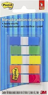 Marcador de Página Adesivo Post-it Flags 5 Cores Sortidas 11,9 mm x 43,2 mm - 100 folhas