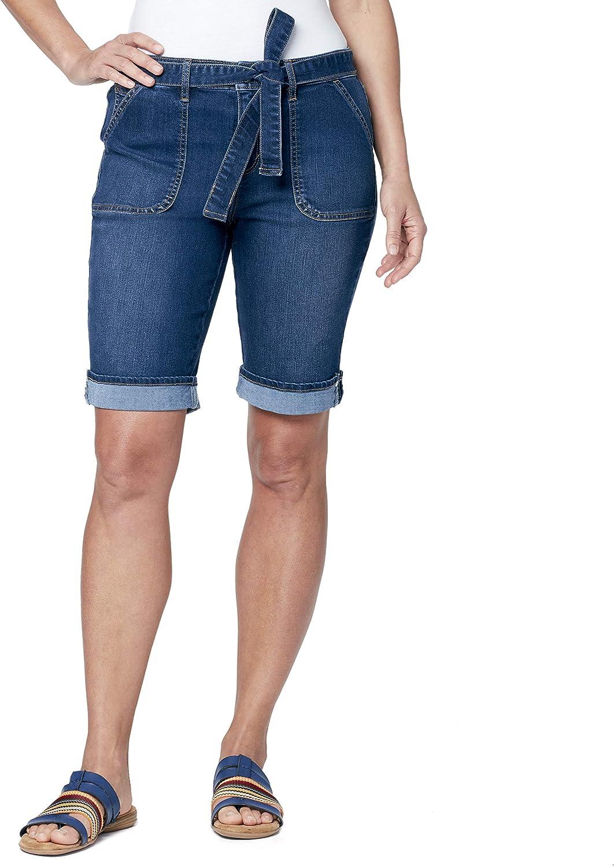 Gloria Vanderbilt Women's Chic Self Belted Bermuda Short