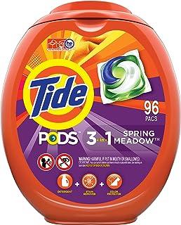 Tide PODS Laundry Detergent Liquid Pacs, Spring Meadow Scent, HE Compatible, 96 Count per..