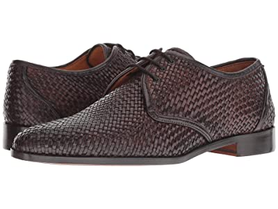 CARLOS by Carlos Santana Jazz Oxford (Chocolate Woven Calf Leather) Men