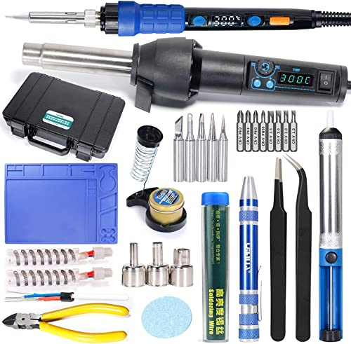 high quality YIHUA 8858-I outlet sale & 928D Kit bundle with the #8858 Hot Air Gun Heating Element with Iron Holder, 2021 Cleaning Kit, and Accessories (23 Items) online