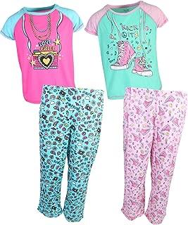 Girls Pajama Sleepwear - Capri Pants Set (2 Full Sets)