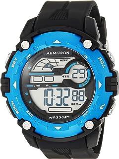 Armitron Sport Men's Blue Accented Digital Chronograph Black Resin Strap Watch, 40/8454BBK