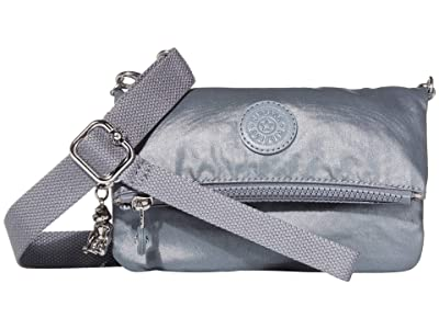 Kipling Lynne Convertible Crossbody Bag (Steel Grey Metallic) Handbags