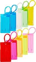 Sodsay 10 Pack Luggage Tag Suitcases Plastic Travel Bag & Baggage ID Label Tags