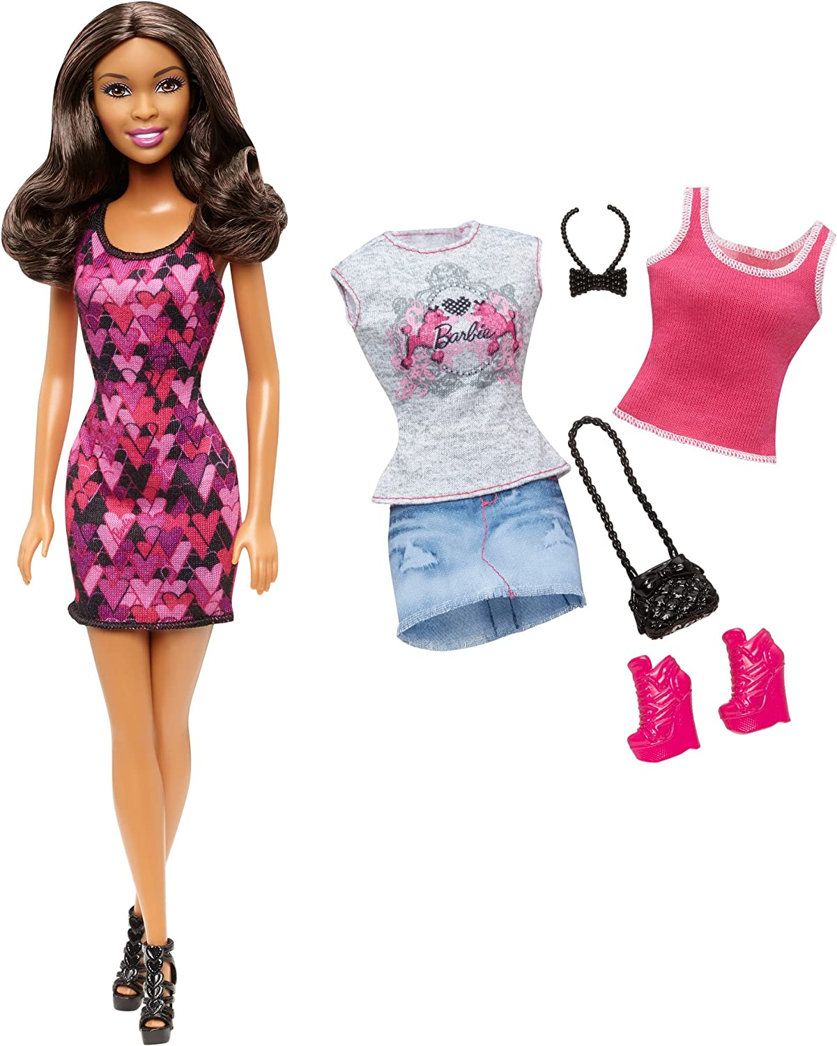 Barbie AfricanAmerican Doll and Fashion Giftset
