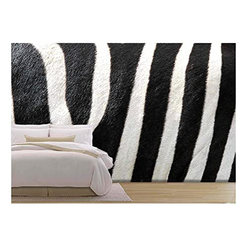 Peel-and-Stick Removable Wallpaper Tiger Zebra Animal Etosha Africa