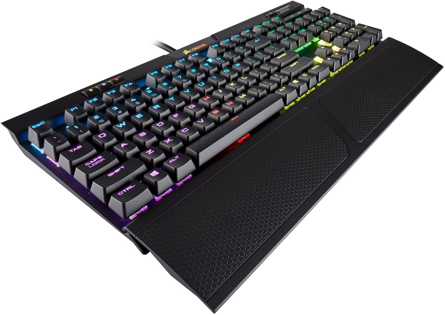 CORSAIR K70 RGB MK.2 Mechanical Gaming Keyboard - USB Passthrough & Media Controls - Tactile & Clicky - Cherry MX Blue - RGB LED Backlit, CH-9109011-NA