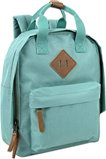 Canvas Mini Backpack for Everyday & Day Pack Rucksack in Solid Color Blocks