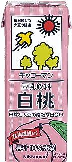 キッコーマン 豆乳飲料 白桃 200ml ×18本