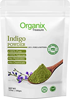 Organix Treasure Pure & Natural Indian Indigo Powder for Hair Care & Hair Growth, 300gm
