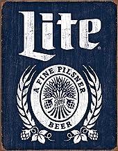 Desperate Enterprises Miller Lite Bottle Logo Tin Sign, 16