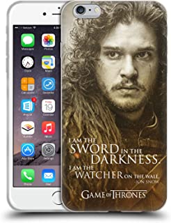 Official HBO Game of Thrones Jon Snow Character Portraits Soft Gel Case Compatible for iPhone 6 Plus/iPhone 6s Plus