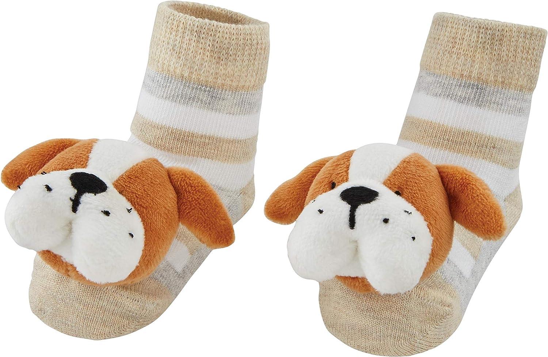 Mud Pie baby-boys Dog Rattle Toe Socks