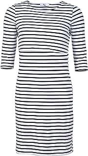 Elma & Me 3/4 Sleeve Striped Maternity Nursing Dress