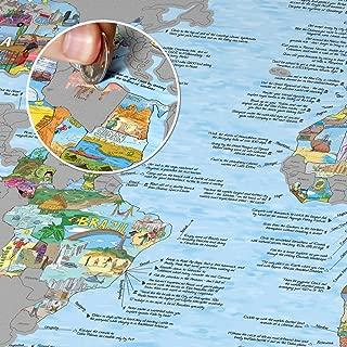Bucket List World Map - Scratch Edition.