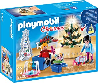 PLAYMOBIL 65 Piece  Christmas Living Room, Multi