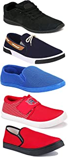 WORLD WEAR FOOTWEAR Sports Running Shoes/Casual/Sneakers/Loafers Shoes for Men Multicolor (Combo-(5)-1219-1221-1140-417-780)