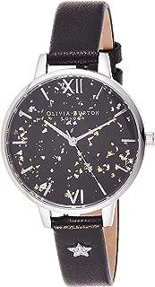 Olivia Burton Womens Quartz Watch, Analog Display and Leather Strap OB16GD13