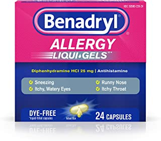 Benadryl Allergy Liqui-Gels Dye-Free - 24 ct, Pack of 4