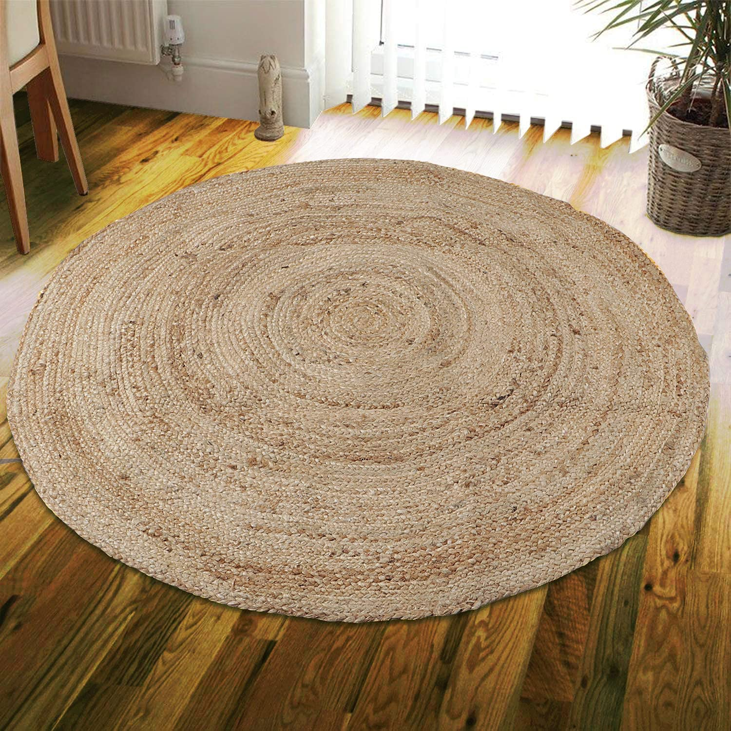 trust Natural Area Rugs Bargain - Round Jute Rug Third Eye Export Collection