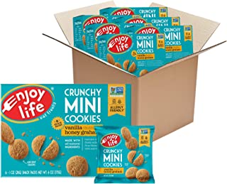 Enjoy Life Crunchy Mini Vanilla Honey Graham Cookies, Nut Free Cookies, Dairy Free, Soy Free, Non GMO Mini Cookies, 6 Boxe...