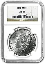 1882 CC Morgan Dollar MS-64 NGC $1 MS-64 NGC