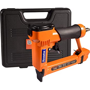 """Pneumatic Upholstery Staple Gun, 21 Gauge 1/2"""" Wide Crown Air Stapler Kit, by 1/4-Inch to 5/8-Inch, with case"""