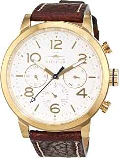 Tommy Hilfiger Jake Men's White Dial Leather Band Watch - 1791231