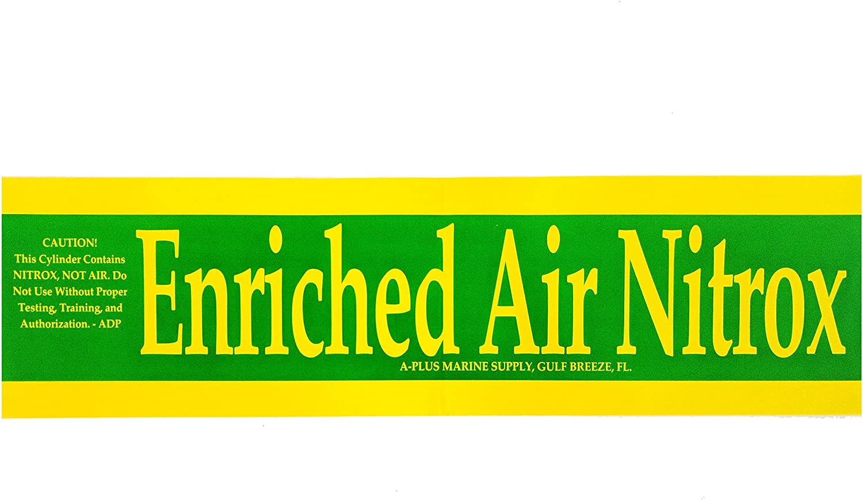 Nitrox famous Sticker price for Scuba Tanks