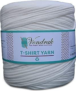 T-Shirt Yarn, 130 Yards, 1 1/2 lb, Bulky Yarn, Jersey Yarn, Fabric Yarn, Recycled (Ivory)