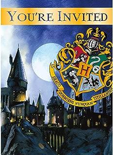 Unique Harry Potter Party Invitations, 8 Ct.