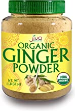 Organic Ginger Root Powder, 1 LB Bulk - Non GMO - for Cooking, Baking, Tea, Health Support -by Jiva Organics