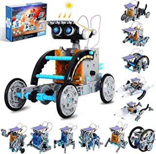 Tomons STEM Projects | 12-in-1 Solar Robot Toys, Education Science Experiment Kits for Kids Ages 8-12, 190 Pieces Building...