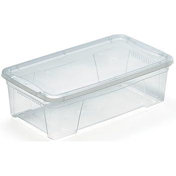 M Home Caja de Almacenaje 3 8.7 l, Translúcido, 41.5x24x14 cm: Amazon.es: Hogar