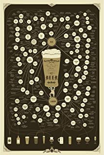 Pop Chart: Poster Prints (24x36) - Beer - Printed on Archival Stock - Features Fun Facts About Your Favorite Things