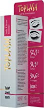 Toplash Eyebrow and Eyelash Growth Serum for Women (2-in-1) Natural Lash and Brow Enhancer for Longer, Thicker, Healthier Lashes, Hair | Botanical, Myristoyl Pentapeptide Booster