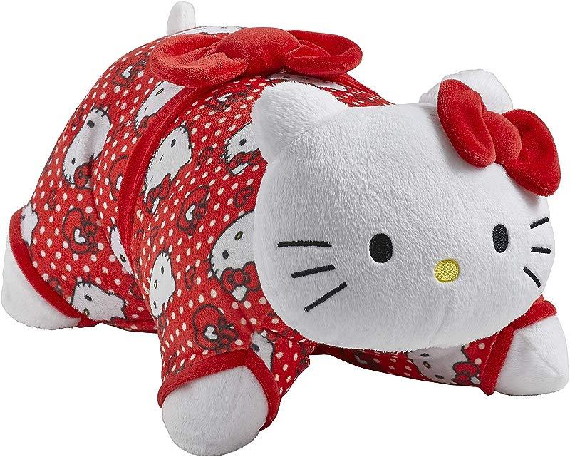 Pillow Pets Sanrio Red Polka Dot Hello Kitty 16 Stuffed Animal Plush Toy