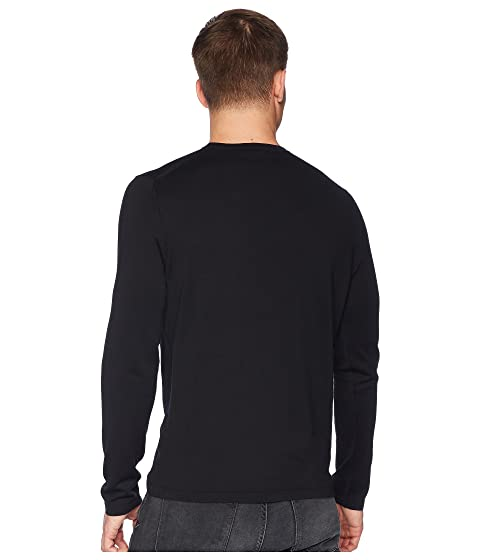 Single Neck Crew Pocket Negro Vince 7qdcBBn