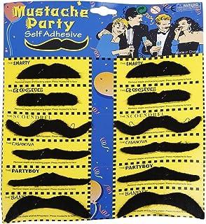 Party Propz Stick on Moustache, Black (Set of 12)